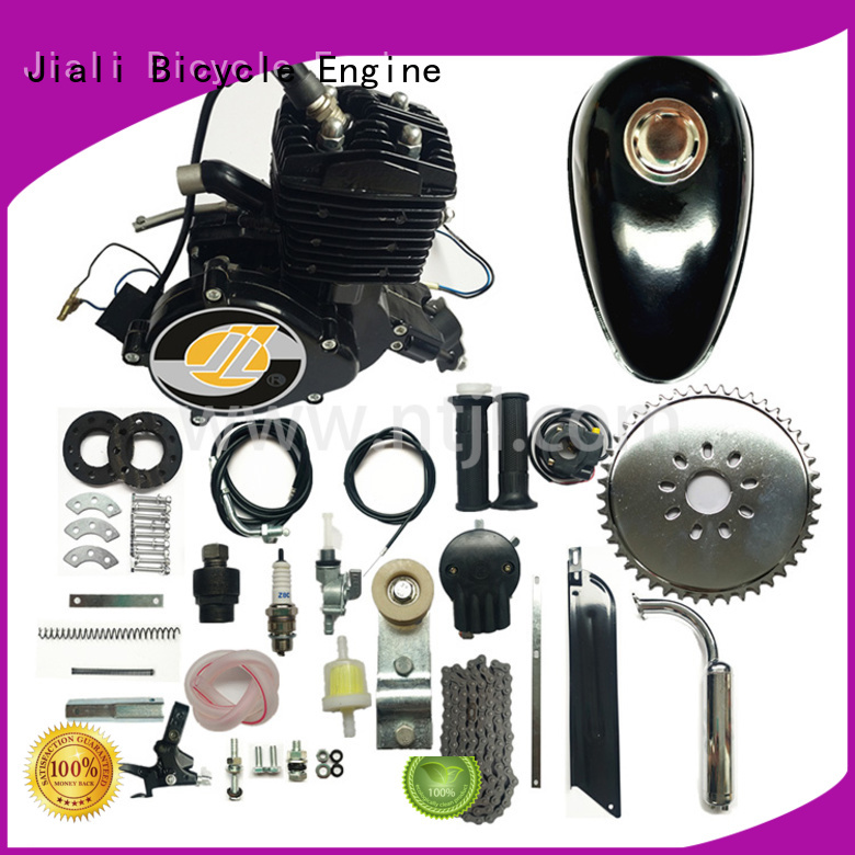 Jiali gas 80cc black bicycle engine kits supply for bicycle