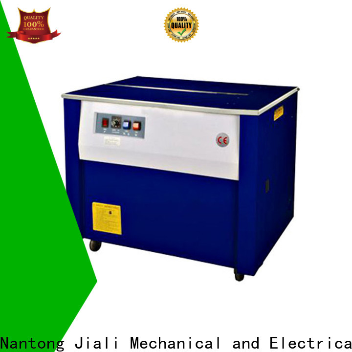 Jiali enclosed semi automatic strapping machine for business for cardboard packing