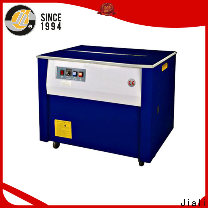 Jiali enclosed semi automatic strapping machine factory for carton packing
