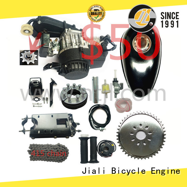 Jiali stroke 49cc 2 stroke pull start bicycle engine kits factory for bicycle